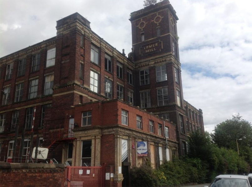 Tower Mill front of building in 2012 before start of renovation