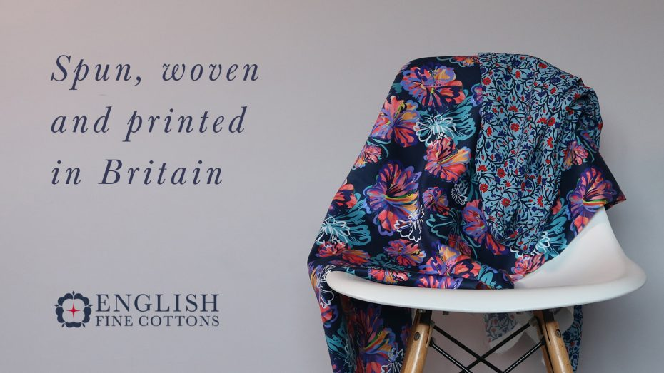 spun, woven, printed in Britian