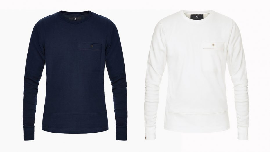 The Cardington Baselayer in navy and ivory