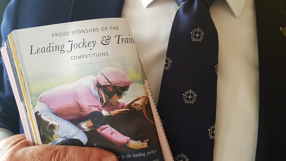 An English Fine Cottons tie spotted at Chester Races