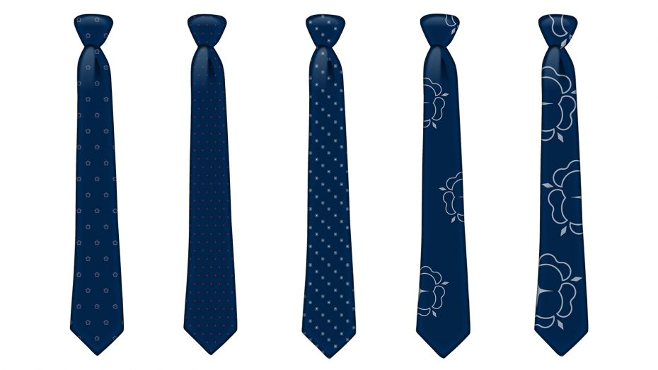 Designs for English Fine Cottons ties made with Supima cotton yarns and silk